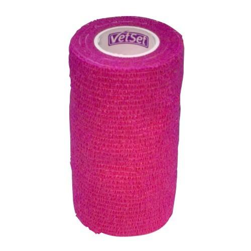 Vendaje cohesivo VetSet para caballos color Rosa
