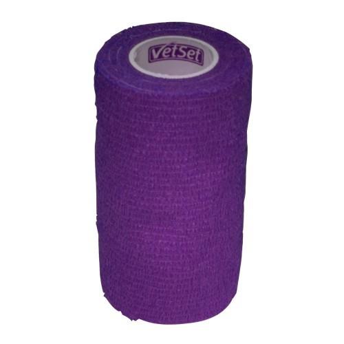Vendaje cohesivo VetSet para caballos color Púrpura