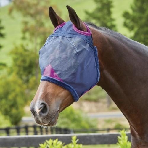 Máscara redecilla duradera Comfitec para caballos color Marino/Púrpura