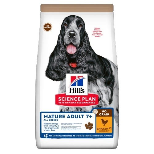 Hill's Science Plan Mature Adult 7+ No Grain Pollo para perros