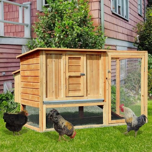Gallinero PawHut exterior de madera para gallinas