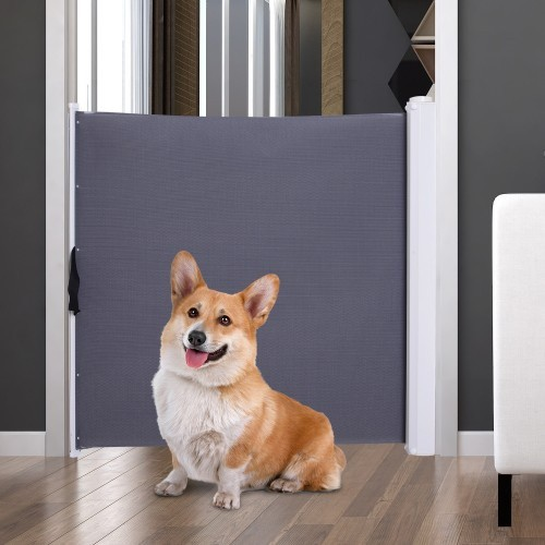 Barrera de seguridad PawHut para mascotas color Gris