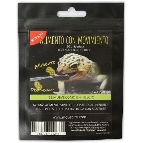 Alimento Movebite para geko leopardo y pogona bolsa sabor Grillo