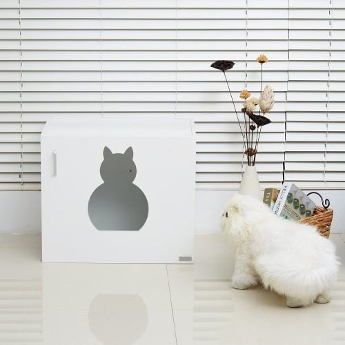 Arenero para gatos PawHut color Blanco Madera