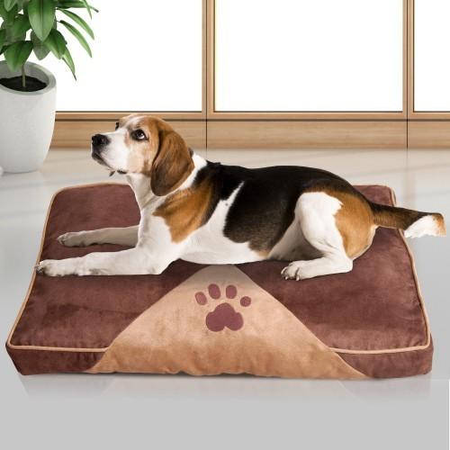 Colchón PawHut acolchado para perros color Marrón