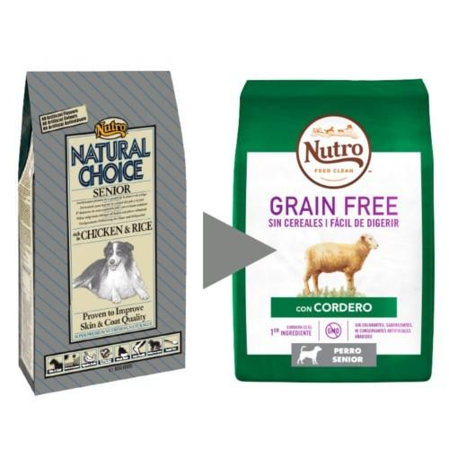 Nutro Grain Free Senior con cordero para perros