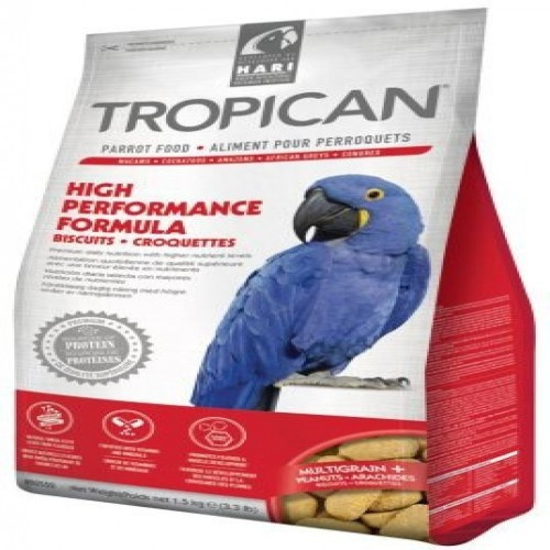 Galletas Tropican High Performance para loros sabor Natural