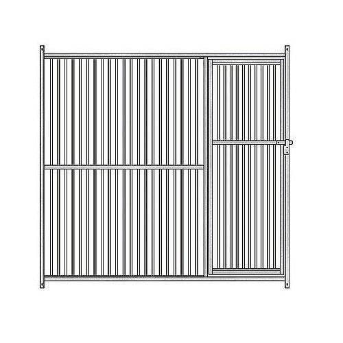Panel frontal de barras para perrera color Metal