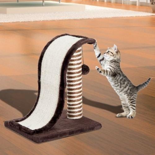 Árbol rascador PawHut para gatos con poste de sisal color Marrón y Crema