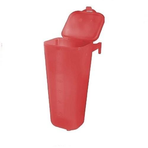 Bebedero tipo botella para pajaros color Rojo