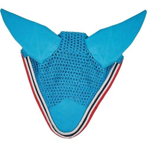 Mosquero saxon con orejeras para caballos color Azul Marino/Berry