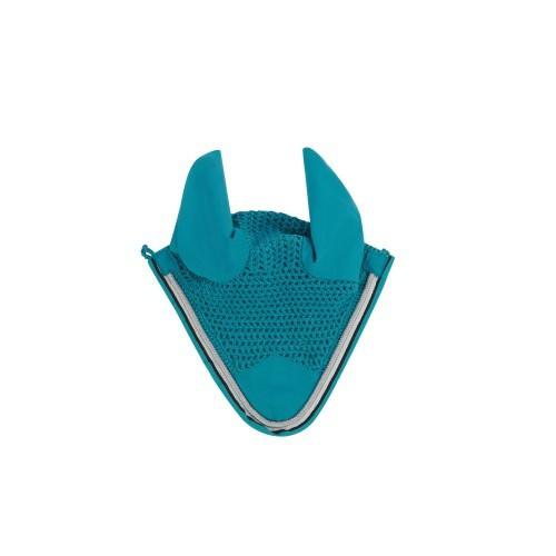 Mosquero saxon con orejeras para caballos color Cerceta/Negro/Blanco
