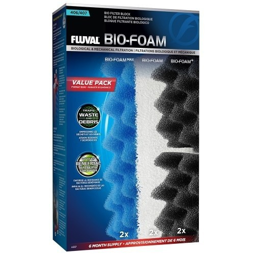 Filtro Fluval Bio-Foam pack de 6 meses modelo 407