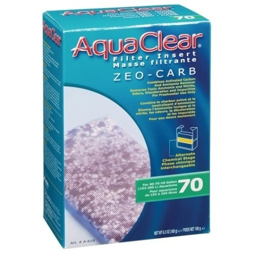 Carbón activo removedor de amoniaco Aquaclear 70