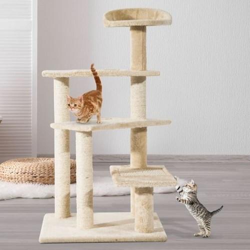 Árbol rascador PawHut para gatos color Beige