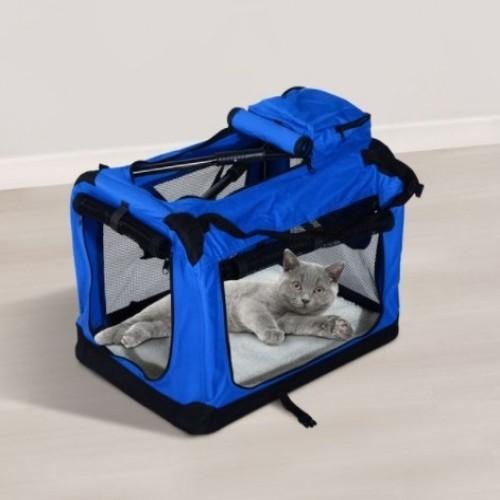 Bolsa de transporte PawHut para viaje 4 entradas color Azul y Negro