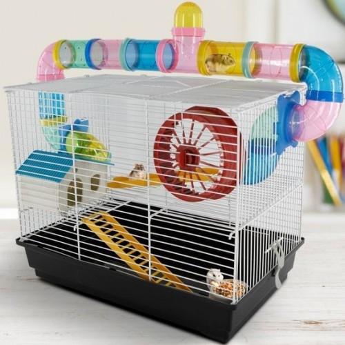 Casa PawHut para roedores color Multicolor