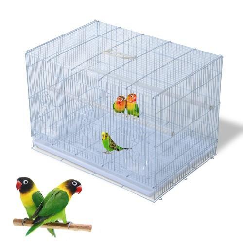 Jaula de hierro PawHut para pájaros y loros color Blanco