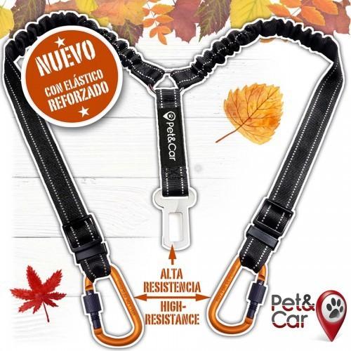 Cinturón de seguridad coche Pet&Car Tango para perros color Negro