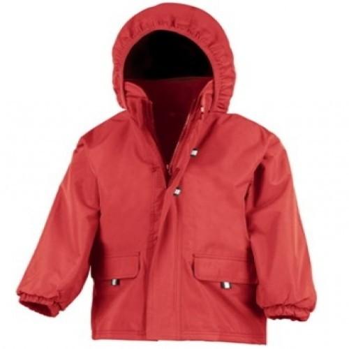 Chaqueta con capucha Result para niños color Rojo