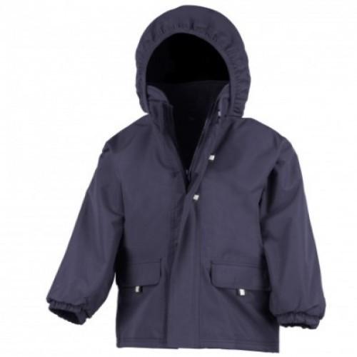 Chaqueta con capucha Result para niños color Azul Marino