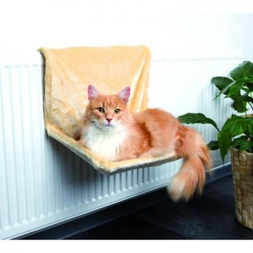 Hamaca para el radiador Trixie para gatos color Beige