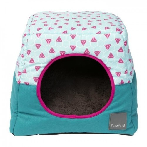 Cama iglú Thaiti Fuzzyard para gatos color Azul