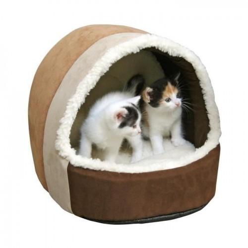 Cama cueva Kerbl Teepee Amy para mascotas color Marrón