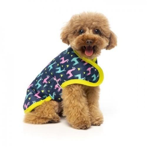 Abrigo Fuzzyard No Probllama para perros color Azul