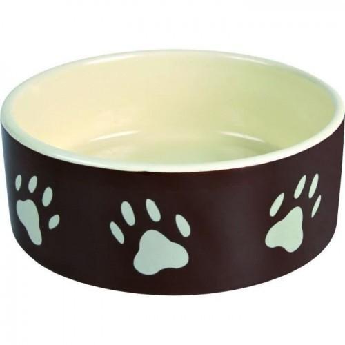 TRIXIE Tazón para perros de cerámica color Marrón