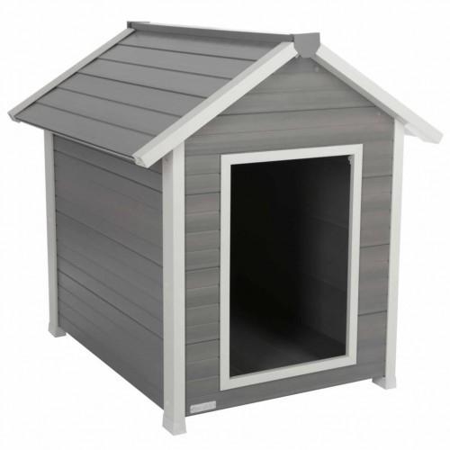 Caseta Kerbl para perros color Gris