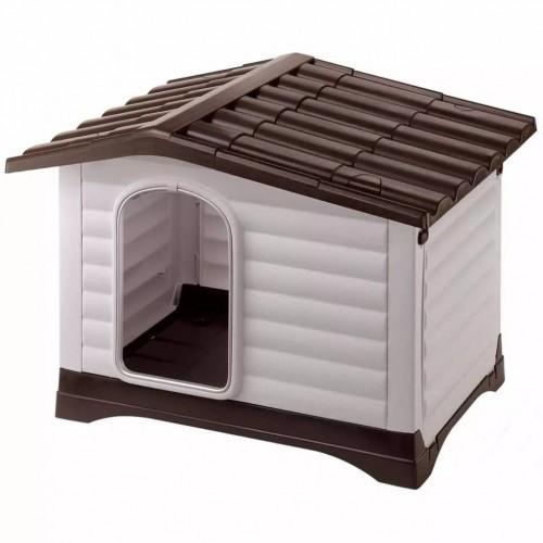 Caseta de plástico Villa 90 Ferplast para perros color Gris