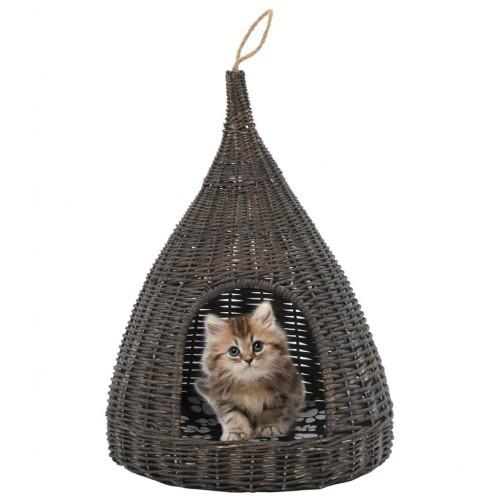Casa tipi con cojín para gatos color Gris