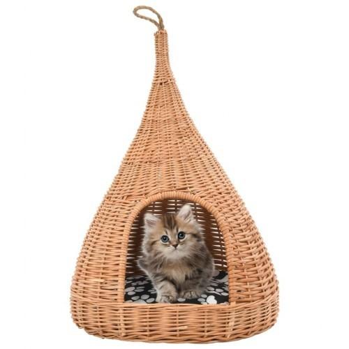 Casa tipi con cojín para gatos color Natural