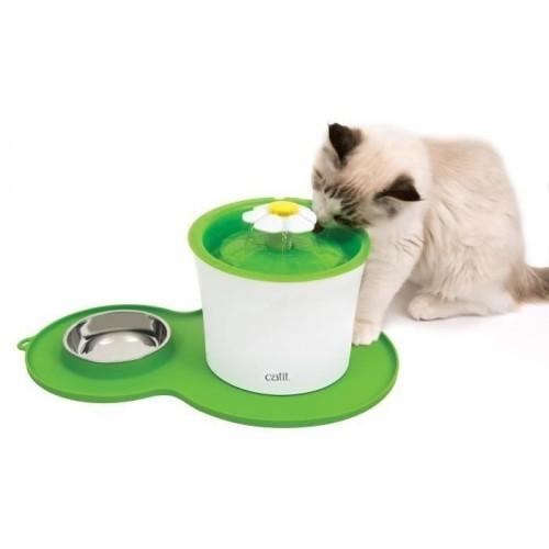 Tazón individual Catit Arch It Archid para gatos color Verde