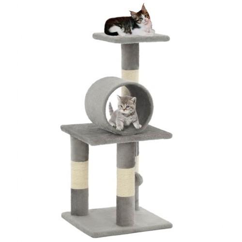 Rascador para gatos con poste color Gris