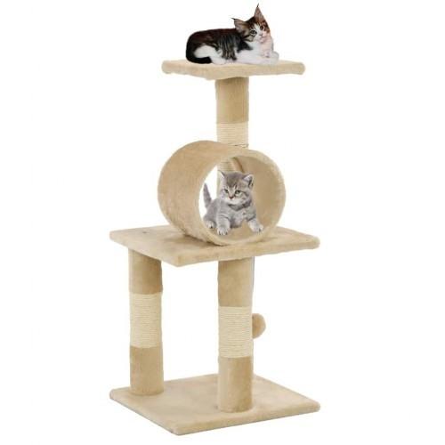 Rascador para gatos con poste color Beige