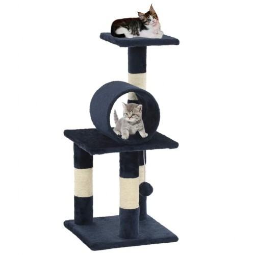 Rascador para gatos con poste color Azul