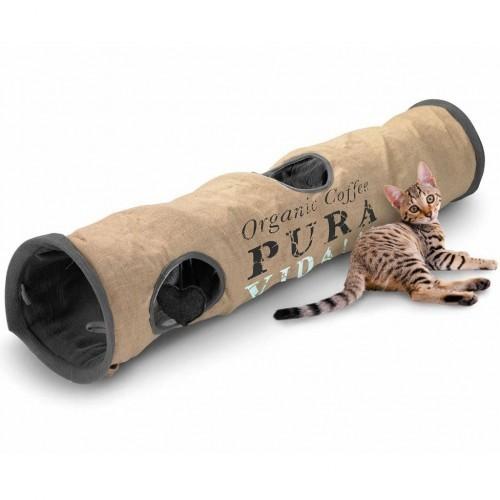 Túnel Pura Vida para gatos color Negro