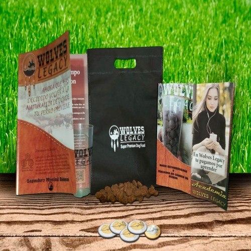 Kit de iniciación de alimentación Cachorro sabor Buey,Ave y Salmón