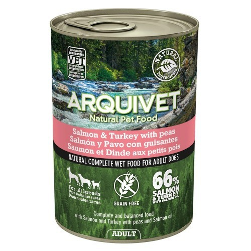 Comida húmeda Wet Food Adult para perros sabor Salmon/Pavo