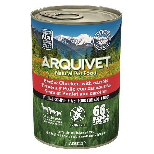 Comida húmeda Wet Food Adult para perros sabor Ternera/Pollo