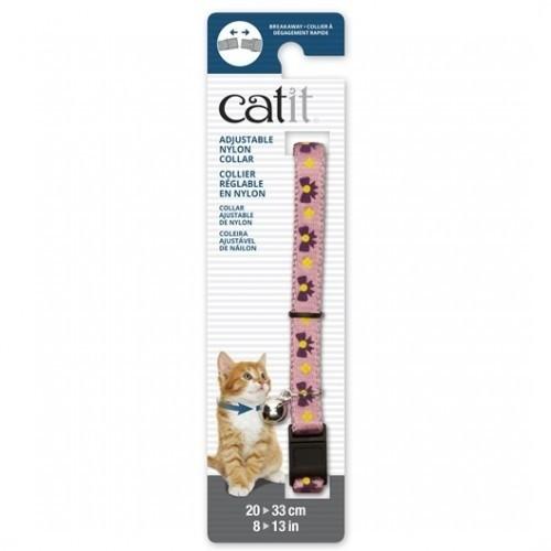 Collar ajustable con cascabel para gatos color Rosa/Púrpura