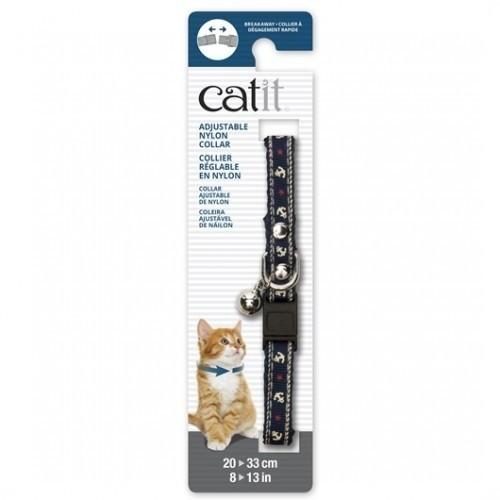 Collar de nylon con cascabel para gatos color Azul/Náutico