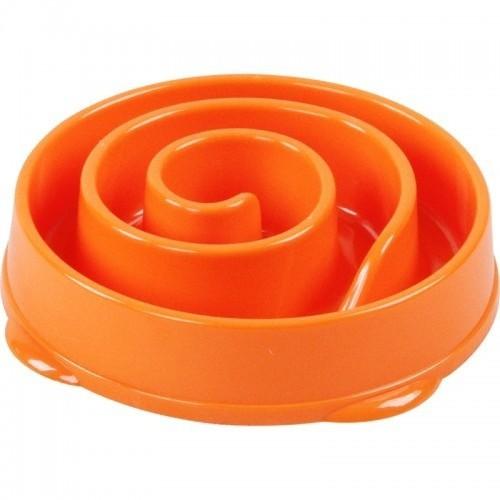 Comedero remolino flor para mascotas color Naranja