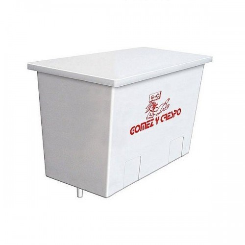 Deposito con cisterna y tapadera para conejos 9 L color Blanco