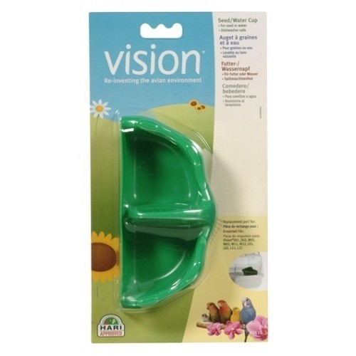 Tazas para semilla/agua Vision color Verde