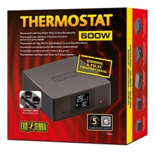 Termostato dual programable 600W color Negro