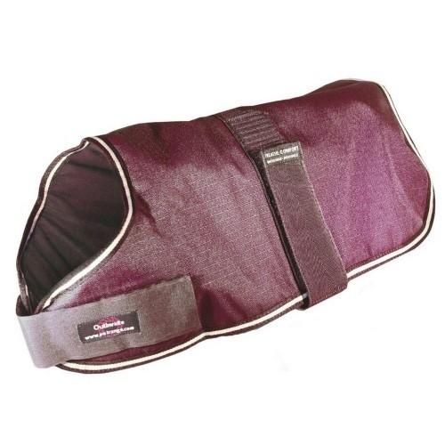 Abrigo acolchado impermeable para perros color Granate