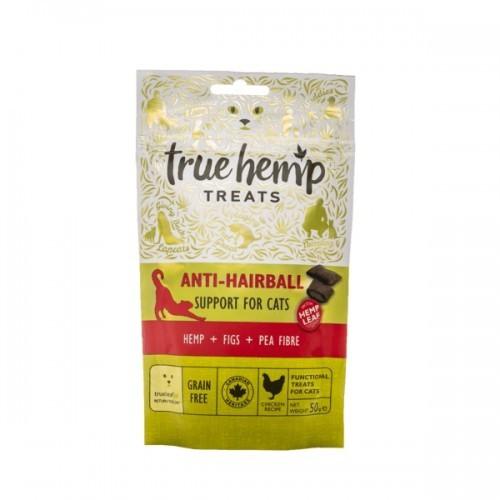 Snacks True Hemp Hairball para gatos sabor Pollo